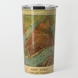 Aerial View of New York by Root & Tinker (1879) Travel Mug