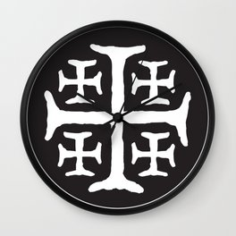 Catholic Jerusalem Cross Wall Clock