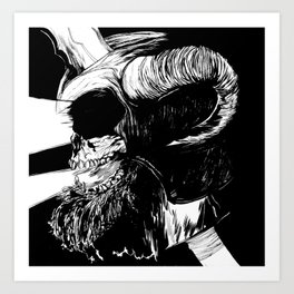 The Dead: Viking Skull of Power Art Print