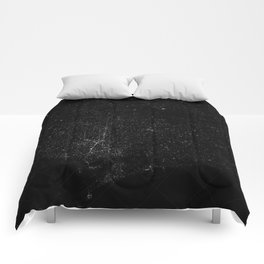 atNight / barcelona constellation Comforters