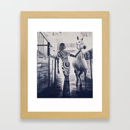 Runway Stable Framed Art Print