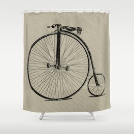 19th Century Bicycle Shower Curtain
