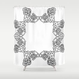 Abstract floral frame Shower Curtain