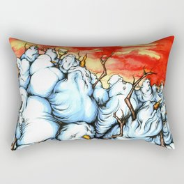Snowman Apocalypse Rectangular Pillow