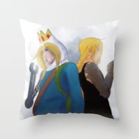 fullmetal alchemist Throw Pillows featuring Fullmetal by Witchy