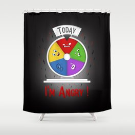 I am Angry Shower Curtain