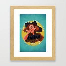 Fabulous Witch Framed Art Print