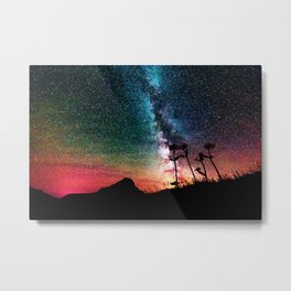 Colorful Milky Way Landscape Metal Print