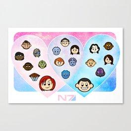 Shepard Romance Venn Diagram Canvas Print