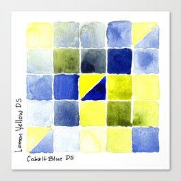 Color Chart - Lemon Yellow (DS) and Cobalt Blue (DS) Canvas Print