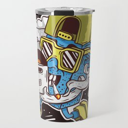 ToyDj Brings A Box With Vinyls And Smoke Travel Mug
