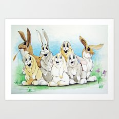 Bunny Family Art Print