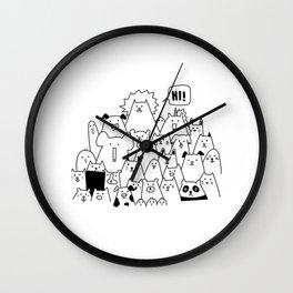 Oh Hi Wall Clock