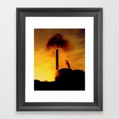 Power Station at Sunset Framed Art Print