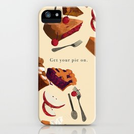 Get your pie on. iPhone Case