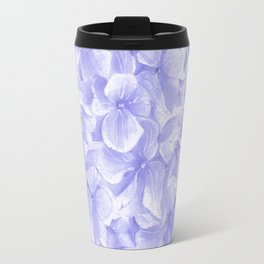 Elegant lavender white faux gold watercolor hydrangea flowers Travel Mug