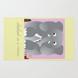 Elephant in a room Rug