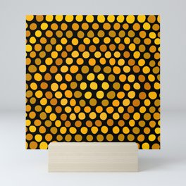 Honeycomb Ombre Dots Pattern Mini Art Print