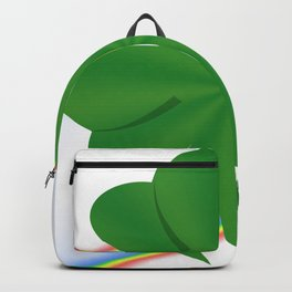 shamrock clover saint patrick leaves Backpack