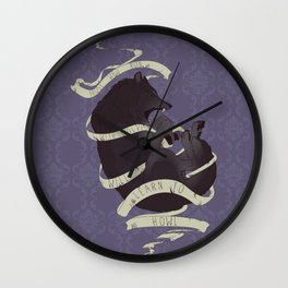 Running with wolves Wall Clock