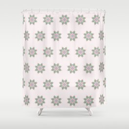 Floral Repeat Pattern Shower Curtain