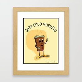 Java Good Morning - Coffee (Earth 1084) Framed Art Print