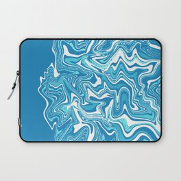 Blue Ice Marbled Agate Laptop Sleeve