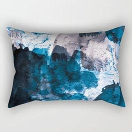 blue & mauve Rectangular Pillow