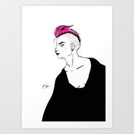 P!NK HAIR Art Print