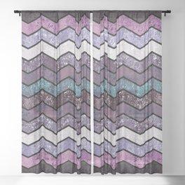Glitter Waves IV Sheer Curtain
