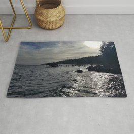 A Stormy Lake Tahoe Day Rug