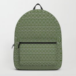 Tribal in Green and Grey Backpack