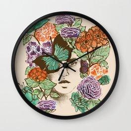 Brianna's Garden Wall Clock