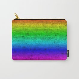 Bright Neon Rainbow Color Wheel Spectrum Brick Wall Carry-All Pouch