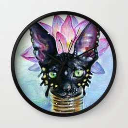 Cat Goddess Wall Clock