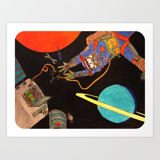 """""""You're Going to Die in Space!!"""" Art Print"""