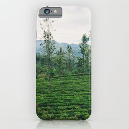 Tea Fields of Sri Lanka, View from the Ella to Kandy Train iPhone Case