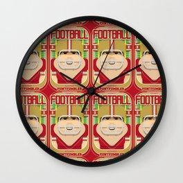 American Football Red and Gold - Enzone Puntfumbler - Bob version Wall Clock