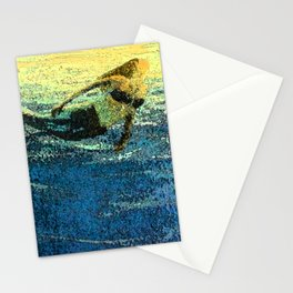 Mermaid Sun Salute at Dawn Stationery Cards