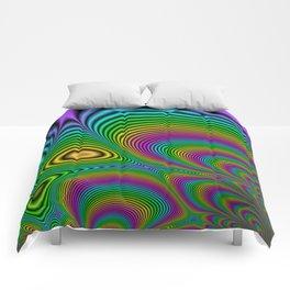 Fractal Op Art 7 Comforters
