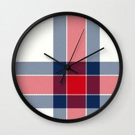 Minimal Plaid 2 Wall Clock