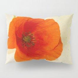 Lonesome Poppy Flower Pillow Sham