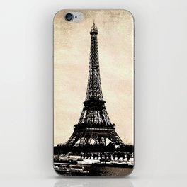 VINTAGE EIFFEL TOWER IN SEPIA iPhone Skin