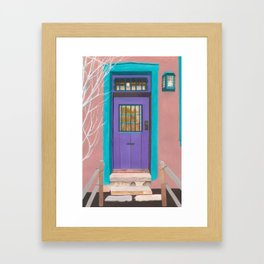 Santa Fe Door Framed Art Print