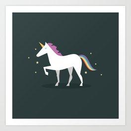 Rainbow Uincorn Art Print
