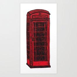 British Telephone Box Art Print