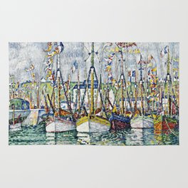 Paul Signac - Blessing Of The Tuna Fleet At Groix. Rug