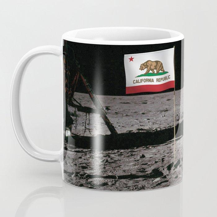 California Republic Flag on the Moon Coffee Mug