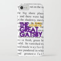 fitzgerald iPhone & iPod Cases featuring The Great Gatsby - F. Scott Fitzgerald / Book Cover Art Poster  by FunnyFaceArt
