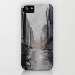 Lamb in the City iPhone Case